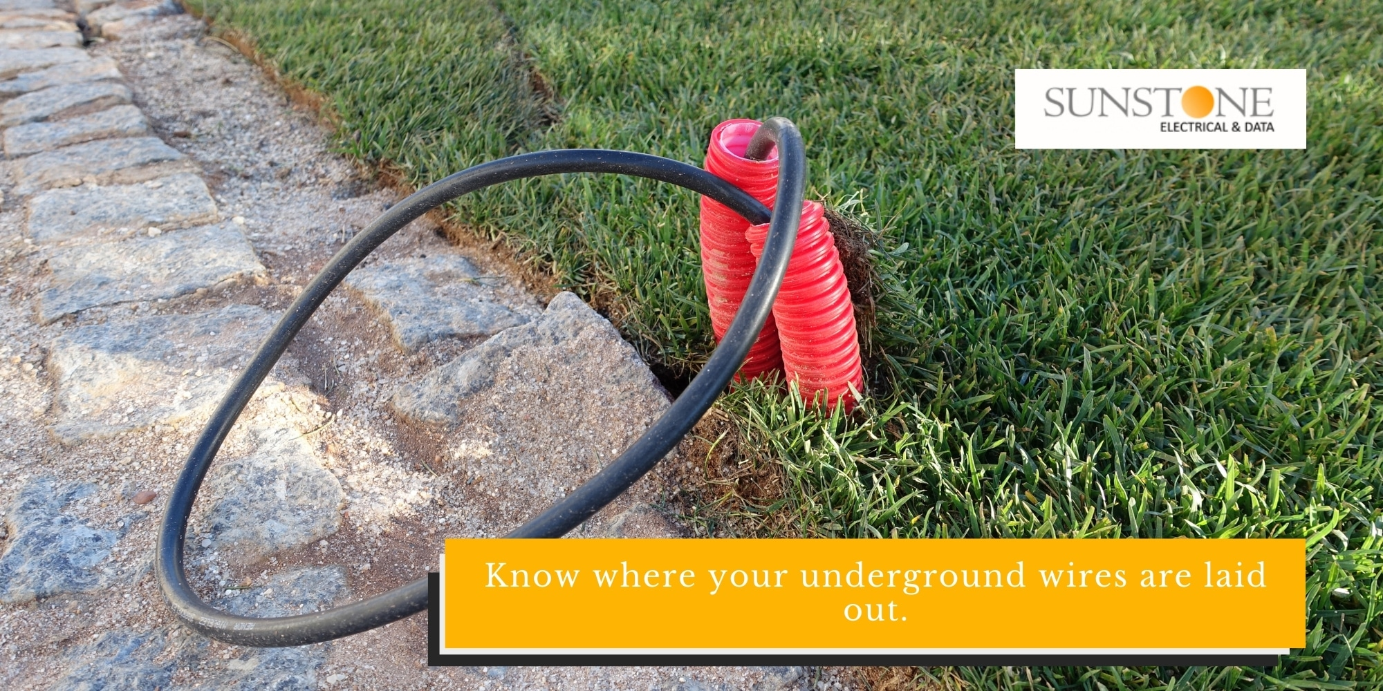 Know where your underground wires are laid out.